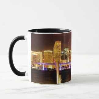 Miami skyline at night, Florida Mug