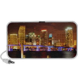 Miami skyline at night, Florida PC Speakers