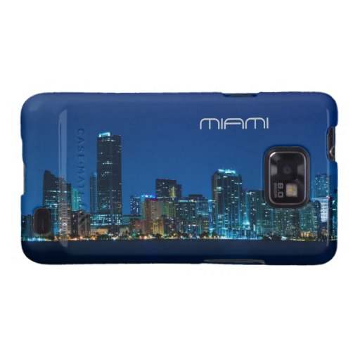 Miami skyline at night galaxy SII case