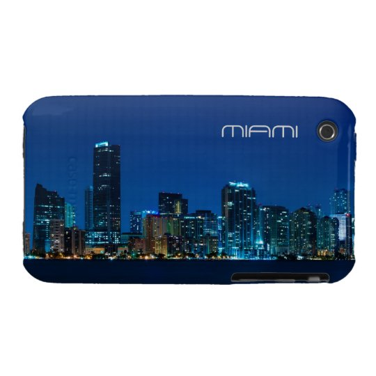 Miami skyline at night - iPhone 3 case