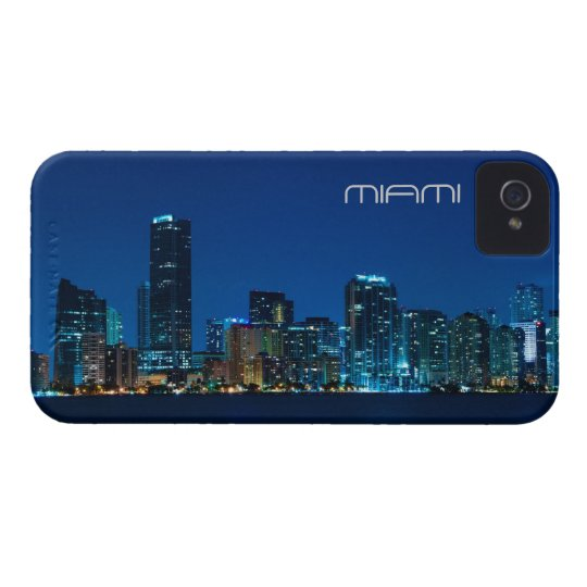 Miami skyline at night - iPhone 4 case