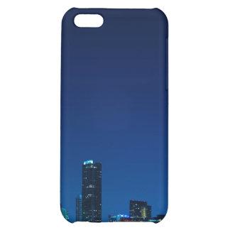 Miami skyline at night - iPhone 4 case