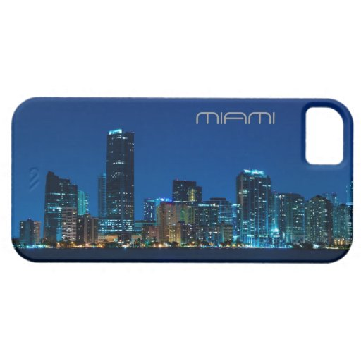 Miami skyline at night - iPhone 5 case