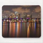 Miami skyline at night - Mousepad