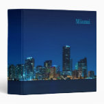 Miami skyline at night panorama - Binder