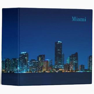 Miami skyline at night panorama - Binder