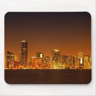 Miami skyline at night panorama - Mousepad