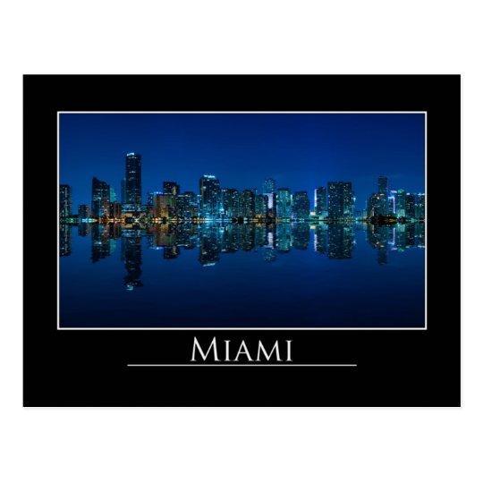 Miami skyline at night panorama - Postcard