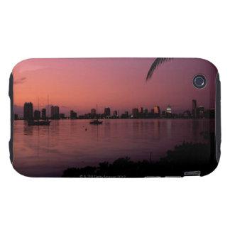 Miami Skyline at Sunset iPhone 3 Tough Case