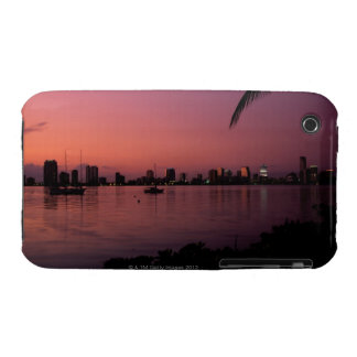 Miami Skyline at Sunset iPhone 3 Covers