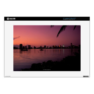 Miami Skyline at Sunset Decal For Laptop