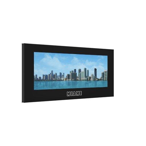 Miami Skyline Stretched Canvas Print
