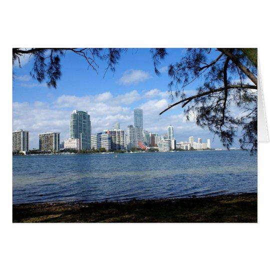 Miami Skyline Card