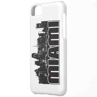 Miami Skyline Cover For iPhone 5C