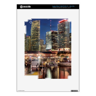Miami skyline city in Florida Decals For iPad 3