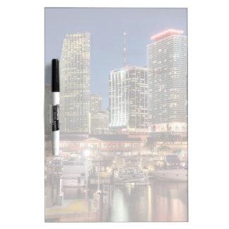 Miami skyline city in Florida Dry-Erase Board