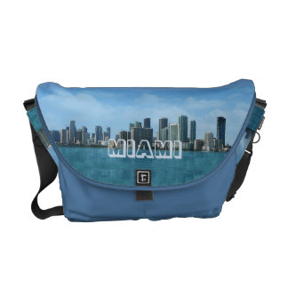 Miami Skyline Courier Bag