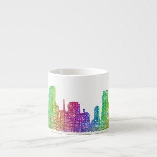 Miami skyline espresso cup