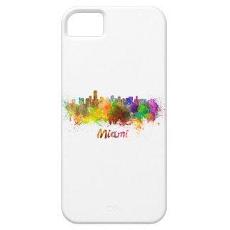 Miami skyline in watercolor iPhone SE/5/5s case