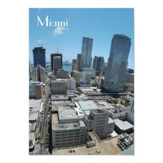 """Miami skyline - Invite 5"""" X 7"""" Invitation Card"""