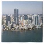 Miami Skyline Large Square Tile