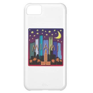Miami Skyline Mega Color iPhone 5C Cases