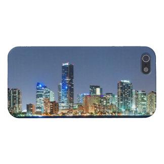 Miami Skyline Panorama iPhone 5 Cases