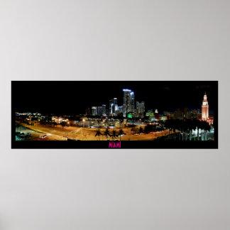 ~Miami Skyline~ PANORAMA POSTER