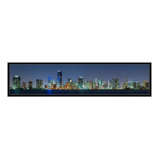 Miami Skyline Panorama Poster
