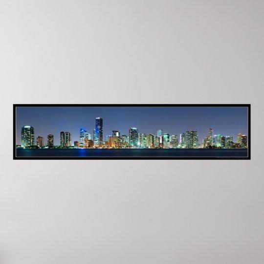 Miami Skyline Panorama Poster