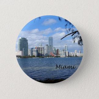 Miami Skyline Pinback Button