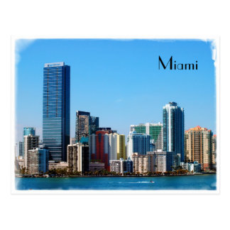 Miami skyline - Post card