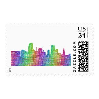 Miami skyline postage