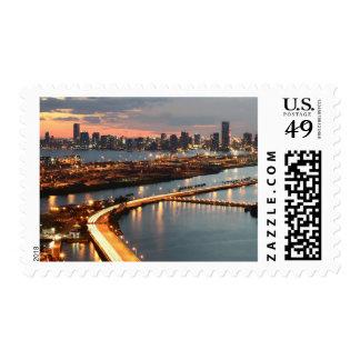 Miami Skyline Postage Stamps