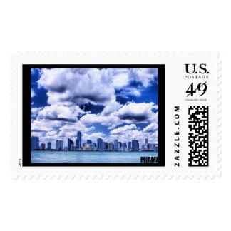 Miami skyline - Postage stamp