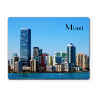 Miami skyline - Postcard