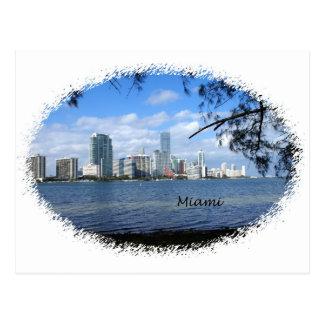 Miami Skyline Postcard