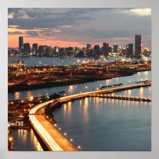 Miami Skyline Print