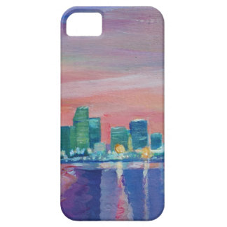 Miami Skyline Silhouette At Sunset In Florida iPhone 5 Cover