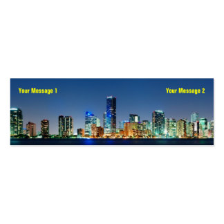 Miami Skyline Skinny Business Card