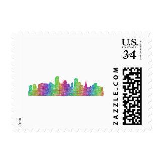 Miami skyline stamp