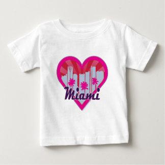 Miami Skyline Suburst Heart Baby T-Shirt