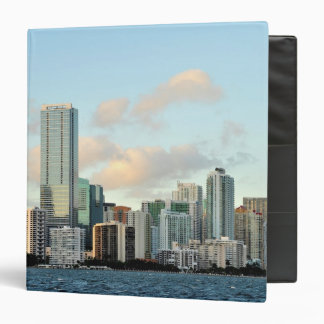 Miami skyscrapers against wide clear sky 3 ring binder