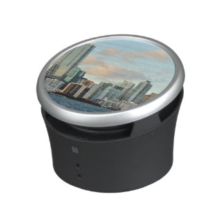 Miami skyscrapers against wide clear sky bluetooth speaker