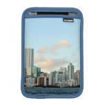 Miami skyscrapers against wide clear sky sleeve for iPad mini