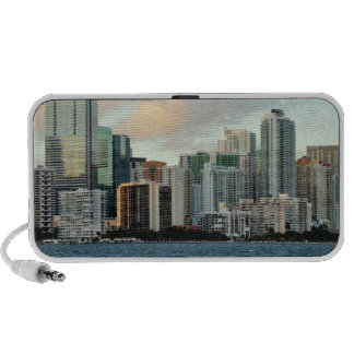 Miami skyscrapers against wide clear sky portable speakers