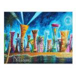 Miami South Beach Florida Pop Art Travel Postcard