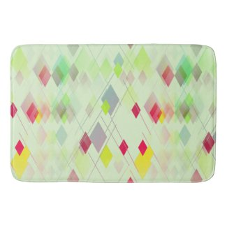 Miami-Style Diamond Patterned Bathmat