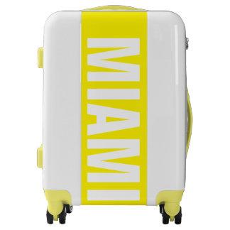 MIAMI, Typo white / yellow Luggage