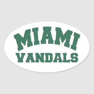 Miami Vandals Oval Sticker